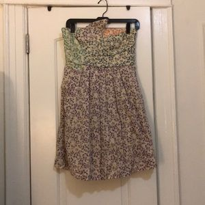 See by Chloe strapless floral dress with pockets